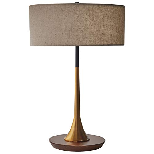Amazon Brand – Rivet Mid-Century Modern Curved Brass Table...