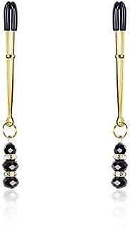 leeqot Metal Adjustable Clamps Black Diamond Decorations Non Piercings Women Body Jewelry