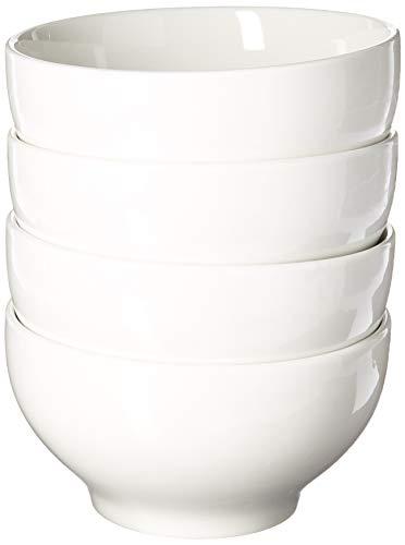 Oxford Biona - Cuencos de porcelana (4 unidades), color blanco