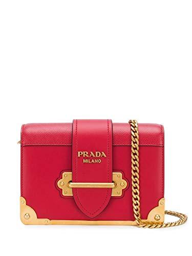 Luxury Fashion | Prada Dames 1BH018VWCH2BB0F068Z Rood Leer Schoudertassen | Lente-zomer 20