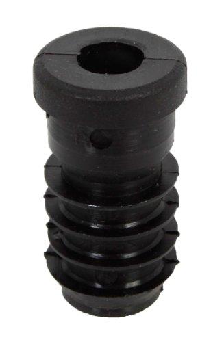 GAH-Alberts 426828 Gewindestopfen - für den Verschluss von Rundrohren, Kunststoff, schwarz, Durchmesser: 20 mm, Gewinde: M8 / 16 Stück