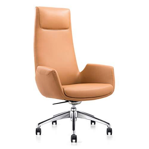 KUANDARGG Bürostuhl Chefsessel Design Klassiker, Schreibtischstuhl Ergonomisch, Büro Sessel, Drehstuhl Coffee Stuhl Büro Bürosessel, Brown