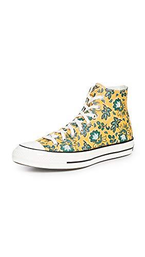 Converse Men's Culture Print Chuck 70 Hi Sneakers, Gold Dart/Egret/Fire, 8.5 Medium US