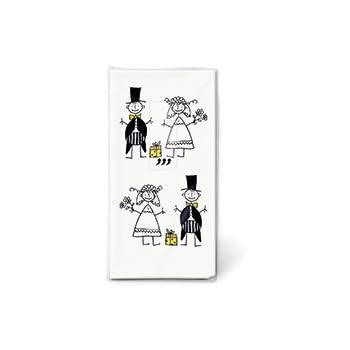 Pa/ñuelos de Papel Decorado Boda Enlace Matrimonio juego de 6 // 60 uds 4 capas