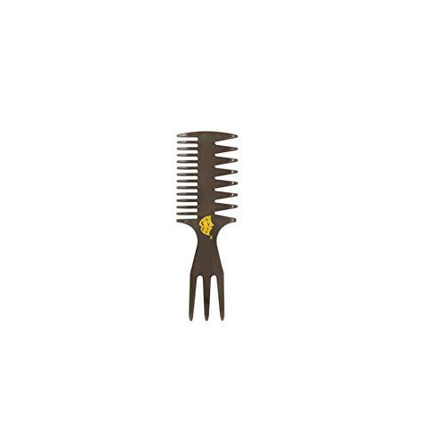 Los hombres retro dientes anchos de pelo peine de peluquería profesional que forma el conjunto de peines anti estática del cepillo de pelo del peluquero estilista Accesorios Negro Nº: 3 Tipo 1 PC