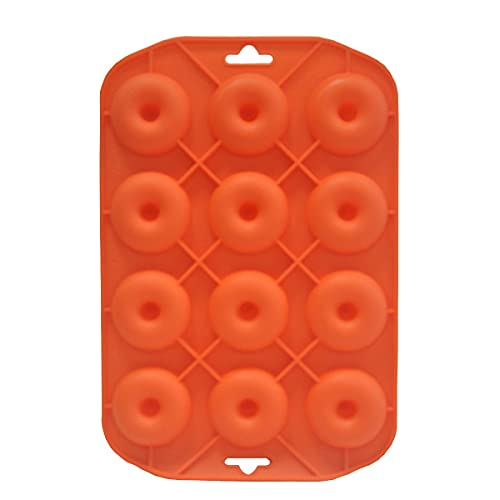 Mini Donut Pans, Silicone Baking Molds 12 Holes Donut Mold for Baking Keto Bagels, Tasty Donuts in Party and Festival