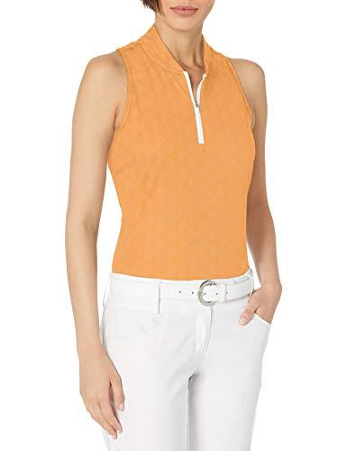 adidas Golf Women's Heat.rdy Racerback Primegreen Polo Shirt, Orange, Extra Small
