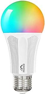 MoKo Bombilla WiFi LED Inteligente con Luz Colorido Cálida Ajustable, E27 9W Lámpara RGB Multicolor Funciona con Alexa Echo SmartThings Google Home para App Control de Fonética & Función de Tiempo
