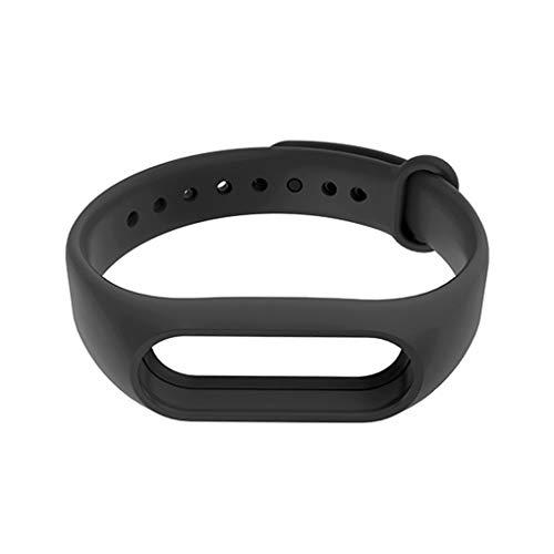 Sunlera di Ricambio per Xiaomi MiBand2 TPU Wristband Cinghie Colore Solido Wrist Band Sostituire Accessori (for Xiaomi Mi Band 2, Nero)