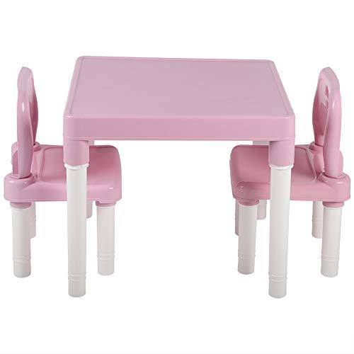 Juego de sillas de Mesa de plástico para niños para niños, Escritorio...