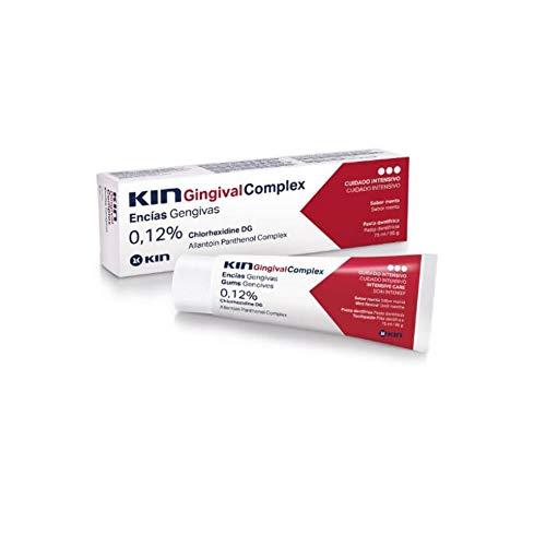 Kin Gingival - Pasta Dental,  clorhexidina 0.12%, antiséptico, 75 ml