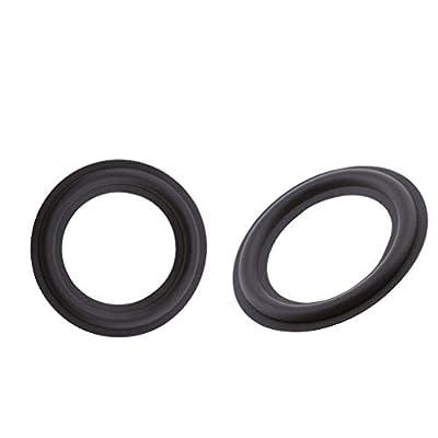 P Prettyia 2Pcs 3inch Perforated Rubber Speaker Foam Edge Surround Rings Replacement Parts for Speaker Repair or DIY (Black) by P Prettyia