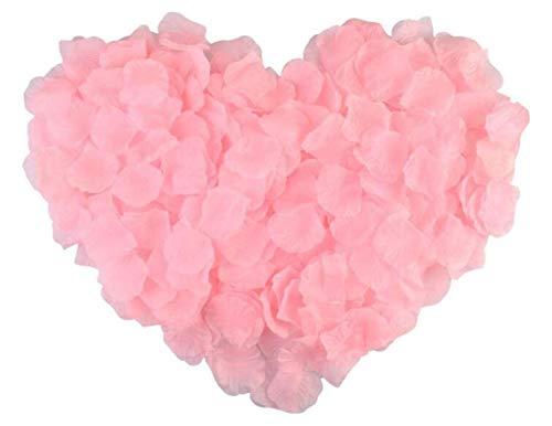 RuiChy Petali di rosa artificiali in seta da 1000 pezzi per fiori da sposa Festa in casa Notte romantica Anniversario Valentine's Day, Rosa