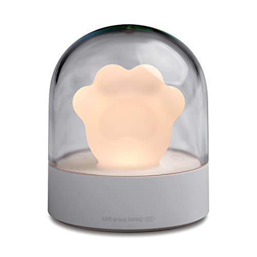 Music Night Light for Kids,Cute Cat Paw Light Box,with One Key Control & Brightness Adjustment Lamp for Boys and Girls,Rechargeable Kids Night Light with Light Music