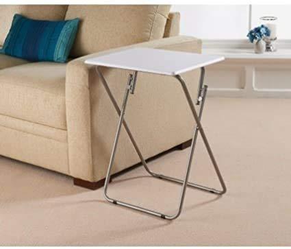 Increíble mesa plegable portátil de PVC para interior al aire libre picnic fiesta camping y comedor blanco