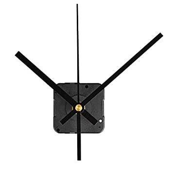QLOUNI Quartz Wall Clock Movement Mechanisms Battery Powered DIY Repair Parts Replacement 2/5 Inch Maximum Dial Thickness 4/5 Inch Total Shaft Length