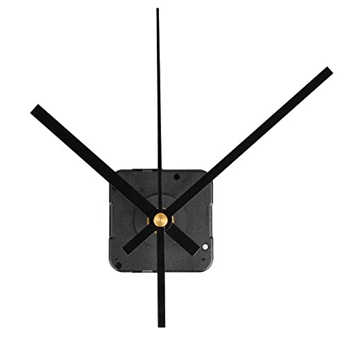 QLOUNI Quartz Wall Clock Movement Mechanisms Battery Powered DIY Repair Parts Replacement, 2/5 Inch Maximum Dial Thickness, 4/5 Inch Total Shaft Length