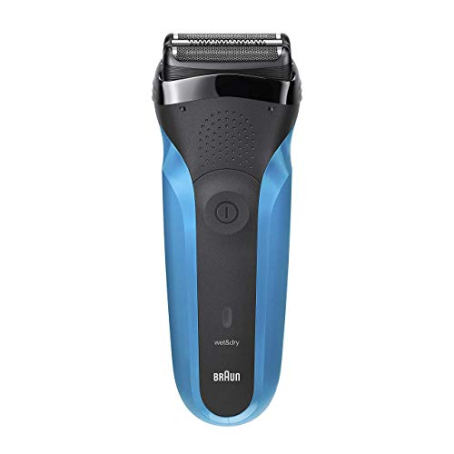 Braun Series 3 310s Wet and Dry Electric Shaver for Men/Rechargeable Electric Razor Gifts for Men Blue, 2 pin plug
