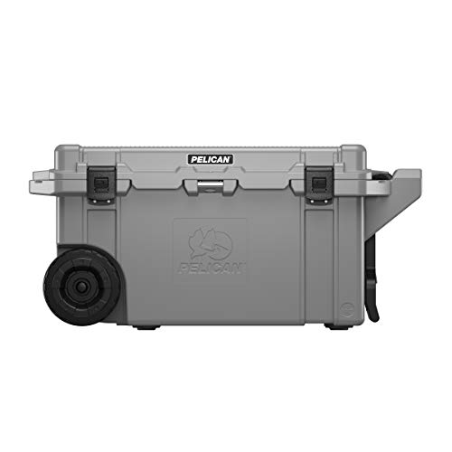 Pelican Elite 80 QT Wheeled Cooler (Dark Gray/Black)