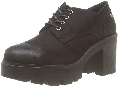 MTNG Collection 58639, Zapatos de Cordones Oxford para Mujer, Negro (Antil Negro C35442), 41 EU