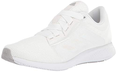 adidas womens Edge Lux 4 Running Shoe, White/White/Grey, 8 US