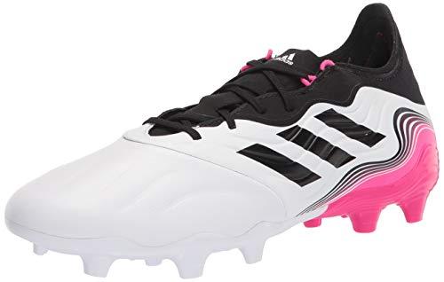 adidas Men's Copa Sense.2 Firm Ground Soccer Shoe, White/Black/Shock Pink, 11.5