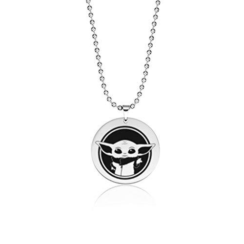 BIRDEU Mandalorian Necklace SW The Mandalorian Cosplay Costume Accessories Yoda Jewelry for Men Women Gifts Collection
