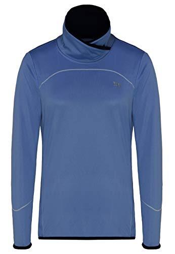TAO Sportswear Damen Langarm Funktionsshirt mit Stehkragen Turtle Neck Thunder Blue 38