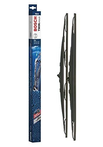 Bosch Twin Spoiler Escobilla limpiaparabrisas 702S, Longitud: 700 mm/650 mm – 1 juego para el parabrisas (frontal)