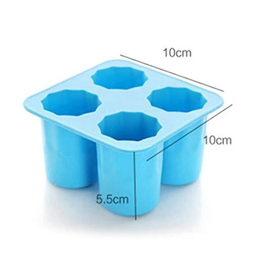 LCZMQRCLMZRQ Ijsschaalvorm maakt klein wijnglas ijsmodel geschenk ijsbakje zomer drinkgereedschap ijs, blauw