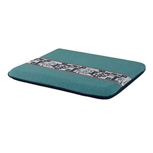 ACRD Almohadillas De Asiento, Suave Antideslizante Suelo Balcón Amortiguar Ergonomía Cómodo Respirable Durable Estilo Chino Amortiguar (Color : Blue-b, tamaño : 50×50×5cm)