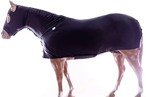 Challenger Midwwest L Horse Comfort Stretch Lycra Sleazy Full Body Sheet Neck 521MW01BK