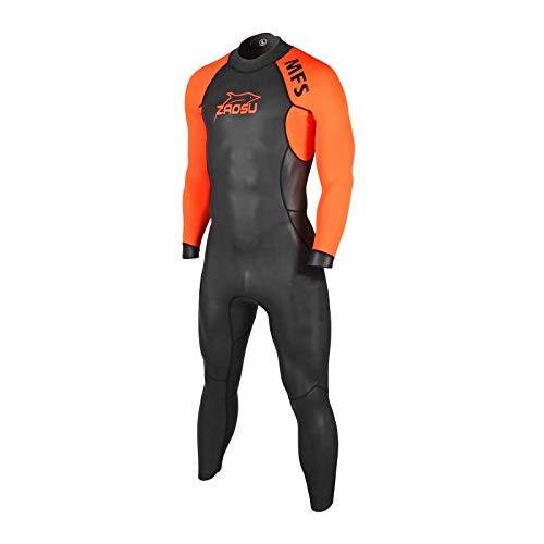 ZAOSU Herren MFS Neoprenanzug Triathlon | Wetsuit Freiwasserschwimmen, Farbe:orange, Größe:ML