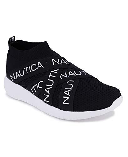 Nautica Women Fashion Slip-On Sneaker Jogger Comfort Running Shoes-Patrika-Black-9
