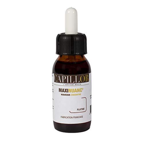 Capillor Maxinuanc' Concentré Platine - Crée ou soutient un reflet sur cheveux colorés ou naturels - flacon 60ml