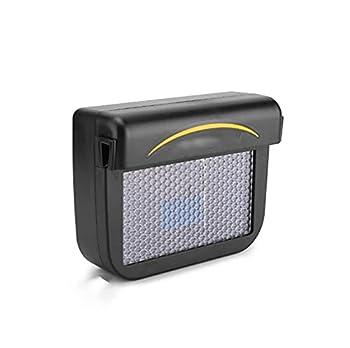 SHENGC Solar Sun Power Mini Car Window Fan,Air Conditioner Auto Air Vent Cool Fan Portable Car Air Conditioner Ventilation  Color   Black