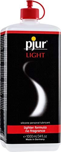 pjur LIGHT - Gleit- & Massagegel auf Silikonbasis - leichte Formulierung für lange Gleitfähigkeit und mehr Spaß beim Sex - 1er Pack (1x 1000 ml)