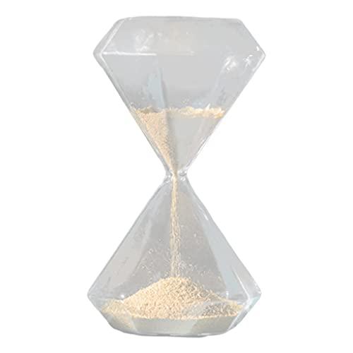Fenteer Reloj de arena de cristal moderno, adorno decorativo, temporizador de arena para aliviar la presión, oficina, sala de estar, dormitorio, arte de mesa - B Estilo L