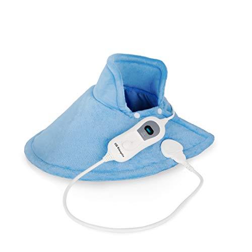 Orbegozo AHC 4200 Almohadilla eléctrica, Especial cervicales. 6 Niveles de Potencia, 100W, Azul