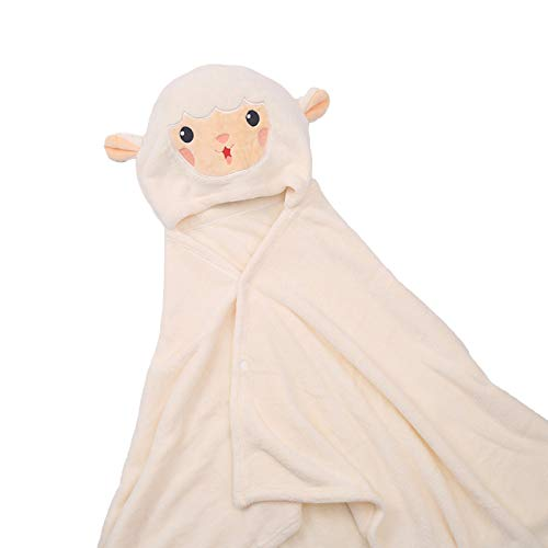 OhhGo Toalla con capucha para bebé, toalla de baño infantil, diseño de dibujos animados, color rosa