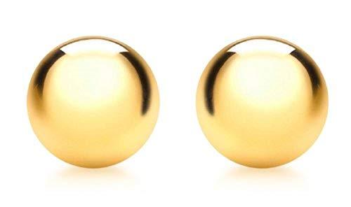 Carissima Gold Damen 10 mm Poliert Ball Ohrstecker 9k (375) Gelbgold 1.55.0633