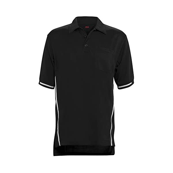 ADAMS USA Short Sleeve Baseball Umpire Shirt with Side Stripe – Sized for Chest...