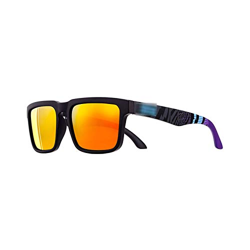 Preisvergleich Produktbild Vikimen Sportbrillen,  Angeln Golfbrille, Sport Polarisiert Sunglasses Men Brand Designer Sunglass Mirrored UV400 Sun Glasses Women With All-Purpose Box CE Polarisiert Lense C5