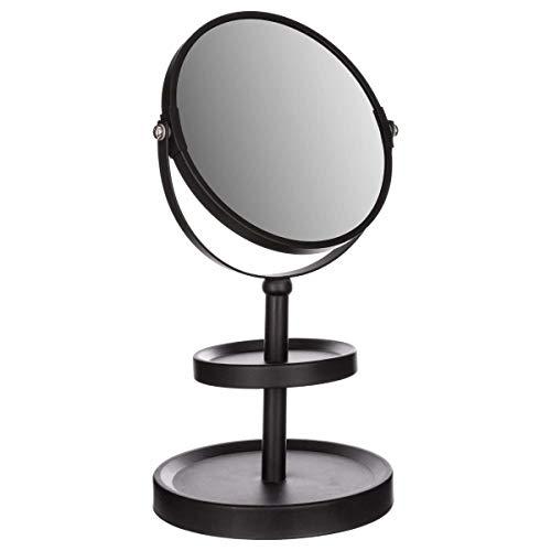 Miroir sur pied - 2 plateaux - Noir