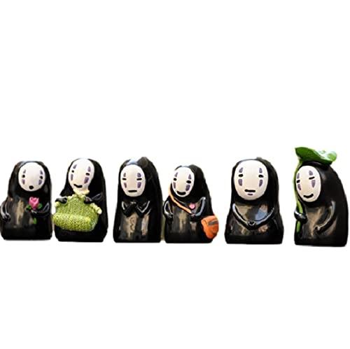 6 Piezas De Spirited Away Sin Rostro Hombre Figuras De Juguete Decoración Sin Rostro Hombre Figura...