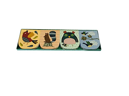Pocket Note Set of 4 Mini-Pads: Woodland Creatures: A Fabulous Collection of 4 Mini-Pads
