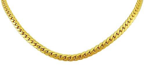 Hanessa Heren sieraden edele halsketting in goud vergulde ketting hiphop massief geschenk voor Kerstmis voor je vriend/man