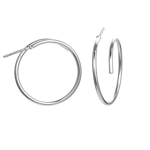 1 pendientes de aro con forma redonda de Matel minimalista