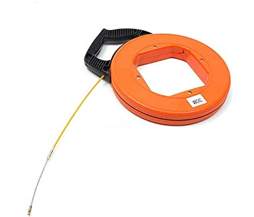 N\C Nylon 30 M fibra de vidrio de la correa de pescado carrete extractor conducto Rod cable herramienta de pesca