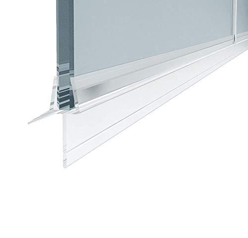 Duschkabinen, Duschdichtung wasserdichteAbdeckkapsel, Überlaufsicherung (80cm (2 Stück), für 6 mm Glasdicke)